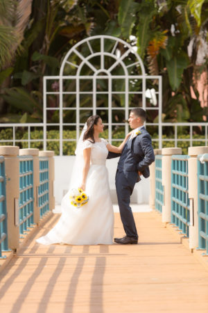 Coral Springs Wedding Photography of choice Couture bridal Photography image of bride and groom during wedding portrait session